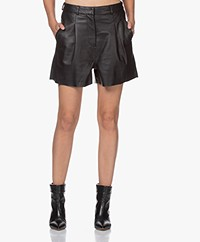 by-bar Lexi Leather Shorts - Black