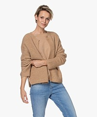 By Malene Birger Apios Open Mohair Blend Cardigan - Sandy-Brown