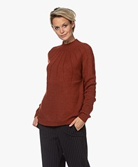 Sibin/Linnebjerg Cara Mohair Blend Funnel Neck Sweater - Fox
