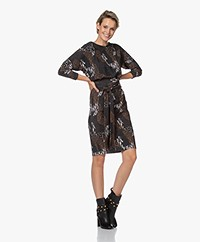 LaDress Caroline Travel Jersey Printed Dress - Jungle