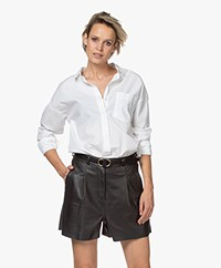 by-bar Suzy Oversized Cotton Poplin Blouse - White