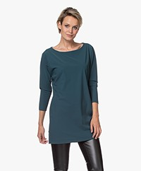 LaDress Reese Travel Jersey Long Shirt - Dark Emerald