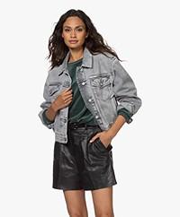 Closed Elin Cropped Denim Jacket - Medium Grey
