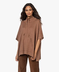 Repeat Cotton Blend Drawstring Sweater - Moka
