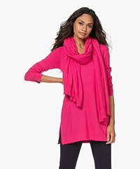 KYRA Oversized Cotton and Wool Blend Scarf - Fluo Pink