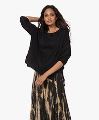 Drykorn Lunaia French Terry Sweatshirt - Black