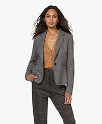 Drykorn Selsey Knitted Viscose Blend Blazer - Rainy Day