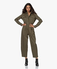 Denham Jodie Military-stijl Jumpsuit - Army Green