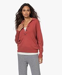 Repeat Polo Sweater in Organic Cashmere - Spice