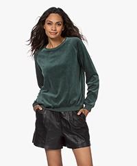 by-bar Teddy Velvet Jersey Sweater - Green