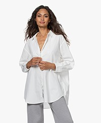 Denham Olivia Oversized Poplin Shirt - White