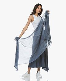 Drykorn Riker Viscose Blend Scarf - Blue