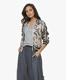 Zadig & Voltaire Billy Reversible Paisley Bomber Jacket - Corolle