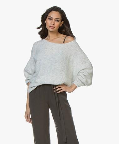 American Vintage Woxilen Oversized Sweater - Light Grey Melange