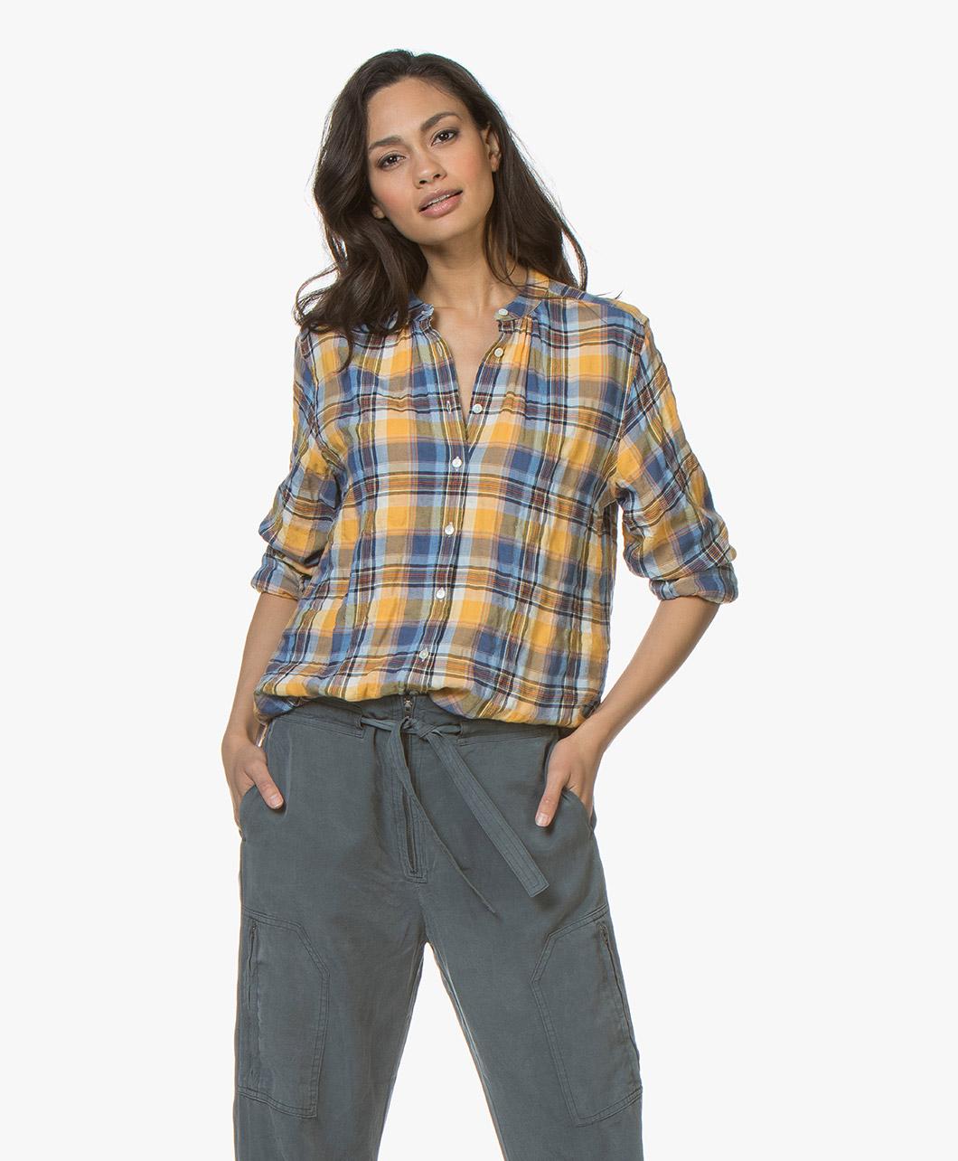 Afbeelding van Closed Blouse Multi Color Jayla Flannel met Ruitpatroon