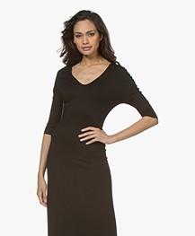 afdd252b30e0ee Home  »  jurken  »  a-lijn · LaSalle. Viscose Jersey Maxi-jurk Zwart