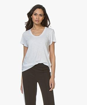 American Vintage Jacksonville Round Neck T-shirt - White
