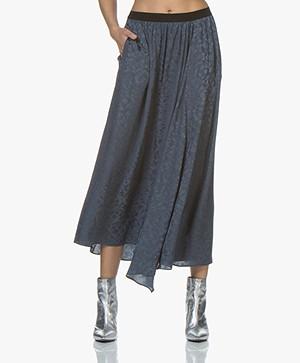 Zadig & Voltaire Jess Silk Jacquard Skirt - Greyish Blue