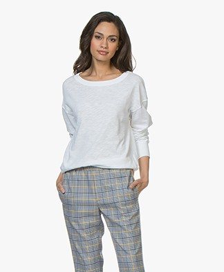 American Vintage Sonoma Katoenen Sweatshirt - Wit
