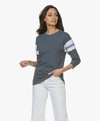 Closed Jersey T-shirt with Cropped Sleeves - Atlantis