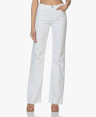 Drykorn Sweep Jeans met Wijde Pijpen - Wit