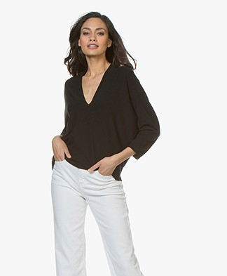 Drykorn Silja Delicate Viscose Blend Sweater - Black