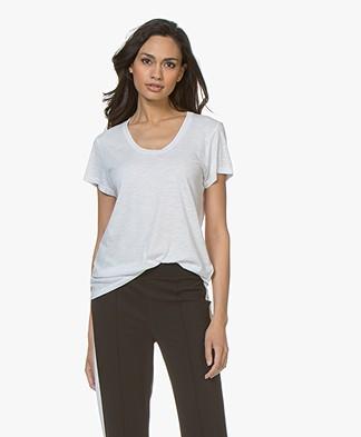 American Vintage Jacksonville Ronde Hals T-shirt - Wit