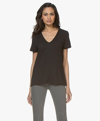 Rag & Bone The Vee T-shirt - Zwart