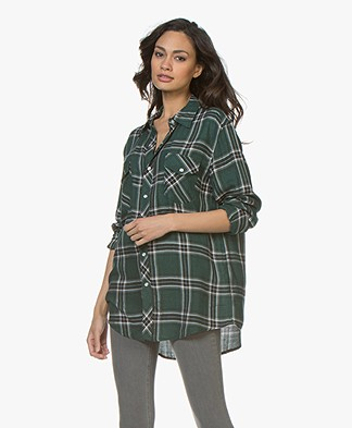 Ragdoll La Flannel Checked Shirt - Dark Green