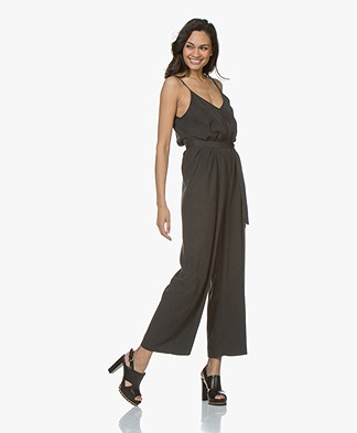 American Vintage Nalastate Lyocell Jumpsuit - Carbon