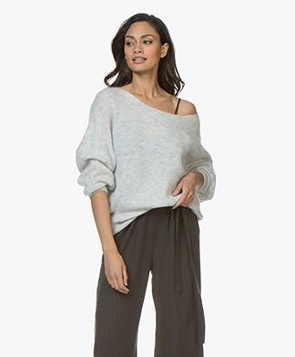American Vintage Woxilen Oversized Sweater - Polar Melange