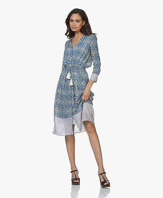 Vanessa Bruno Ilko Viscose-Cotton Blend Printed Dress - Royal