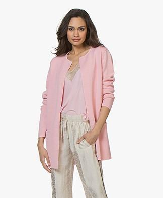 Sibin/Linnebjerg Vera Half Long Open Cardigan - Blossom Pink