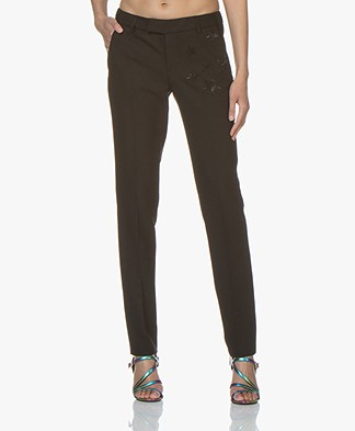 Zadig & Voltaire Prune Strass Pants - Black