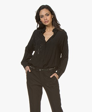 Zadig & Voltaire Tamara Strass Shirt - Black