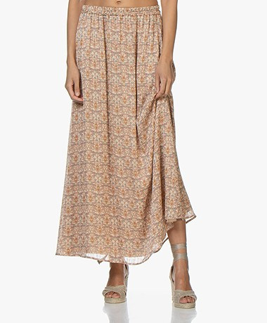 by-bar Pleun Printed Maxi Skirt - Ash Rose