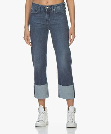 Denham Kelly Jeans with Folded Hem - Blue