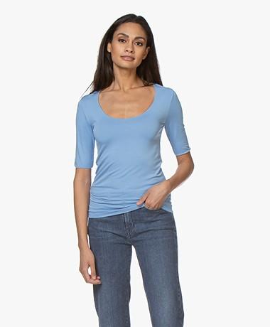 Majestic Filatures Round Neck T-shirt - Vista Blue