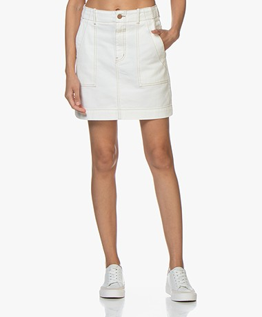 Closed Selby Cotton Twill Mini Skirt - Ivory