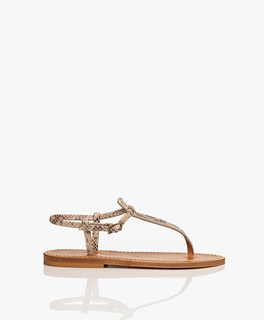 K. Jacques St. Tropez Picon Leather Sandals - Kampal Duna