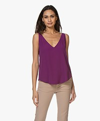 ba&sh Figue Reversible Crêpe Top - Violet