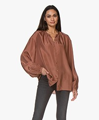 Joseph Bowell Habotai Zijden Blouse - Dusty Rose