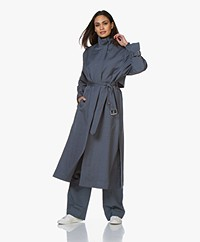 Filippa K Geneva Linen Blend Coat - Blue Grey