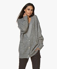 American Vintage Zazow Mid-length Button-through Cardigan - Heather Grey