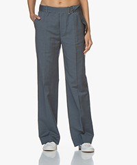 Filippa K Hedwig Linen Blend Pants - Blue Grey