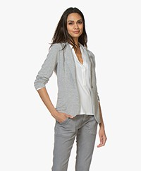 Majestic Filatures Viscose Jersey Blazer - Grey Melange