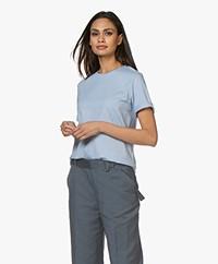 Filippa K Annie Organic Cotton T-shirt - Ice Blue