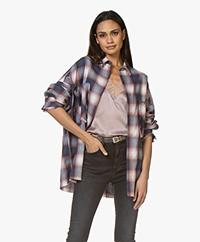 IRO Bayswa Checkered Shirt - Pink/Blue
