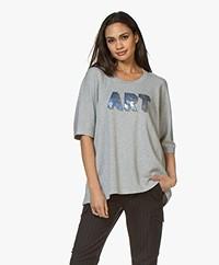 Zadig & Voltaire Portland Amour 3D Print Sweatshirt - Grey Melange