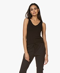 Majestic Filatures Soft Touch V-neck Tanktop - Black